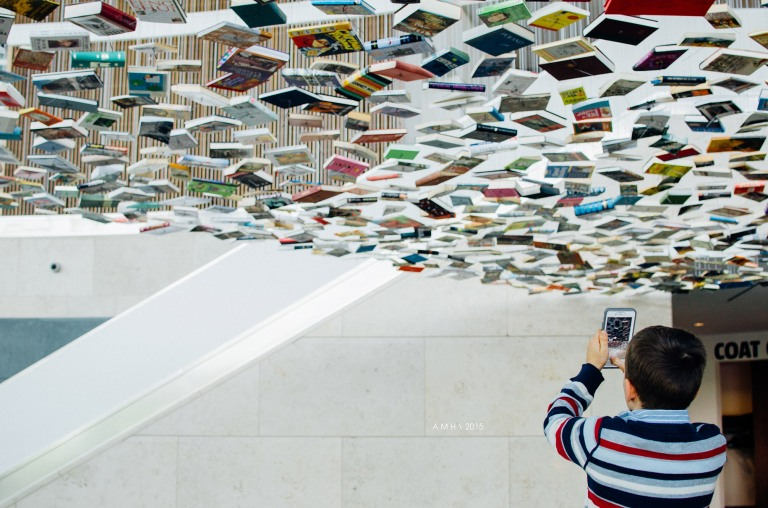 A boy takes a panoramic | Richard Wentworth: False Ceiling | Efroymson Pavilion | IMA